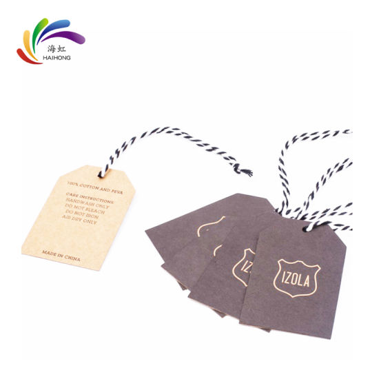 Wholesale Price Customized Clothes New Design Swing Hang Tag