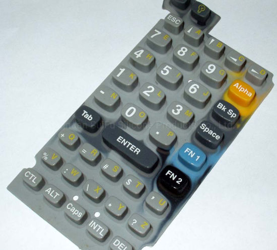 Customized Printing High Quality Color Calculator Silicon Rubber Conductive Keyboard Keys Silicone Keypad Buttons