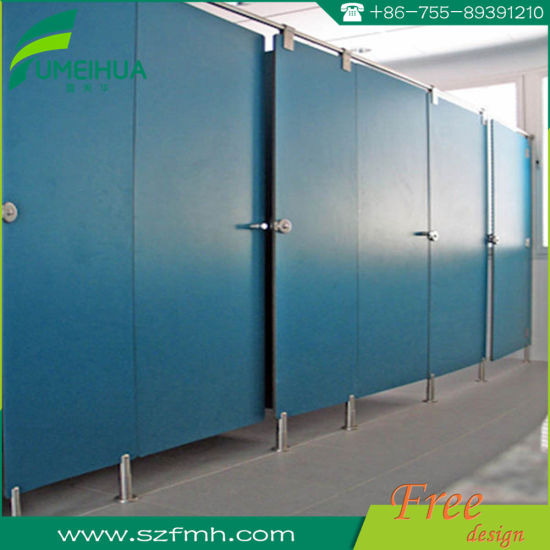 L Type Phenolic Resin Toilet Partition with Nylon Accessories pictures & photos