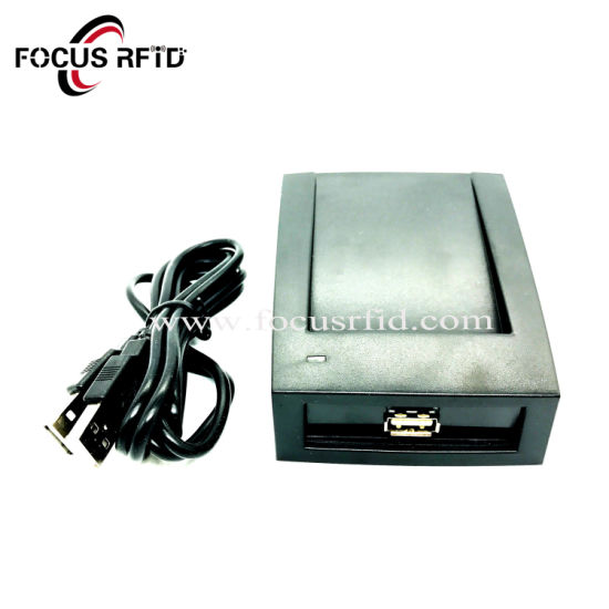 Desktop Hf RFID Reader and Writer ISO14443 Type a/B ISO15693