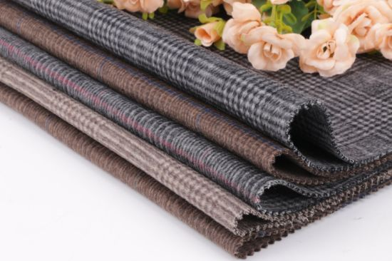Wool Fabric, Double-Sided Checked Woolen Fabric