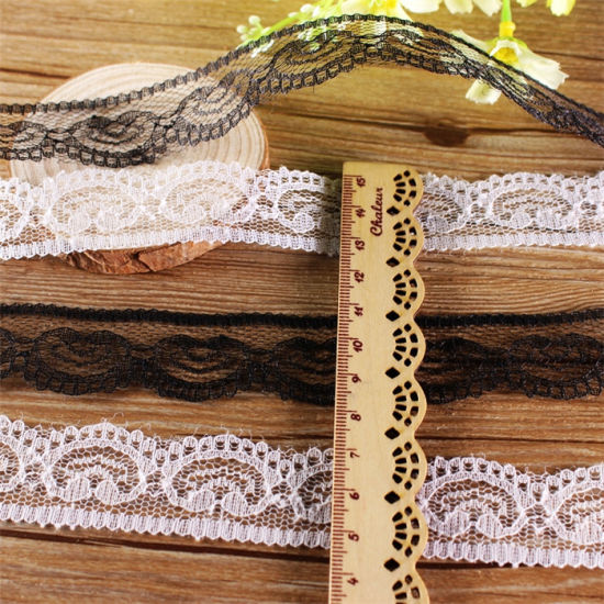 18cm Pink Sexy Stretch Trimming Lace for Ladies Lingerie