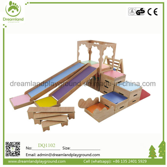 Hot Sale Kids Indoor Early Education Soft Play with Wooden Slide. pictures & photos