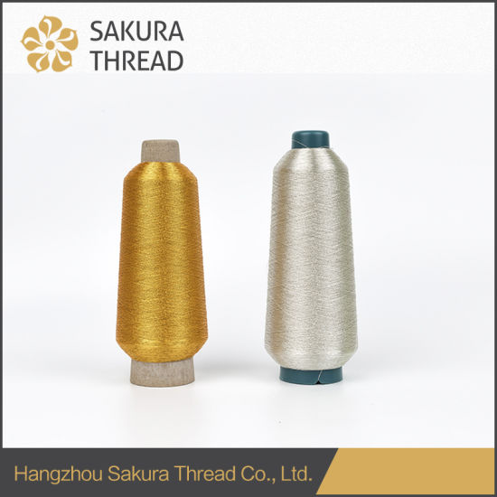 Sakura Metallic Thresad with Excellent Color Fastness, Glorious Gloss and Softness for Embroidery pictures & photos