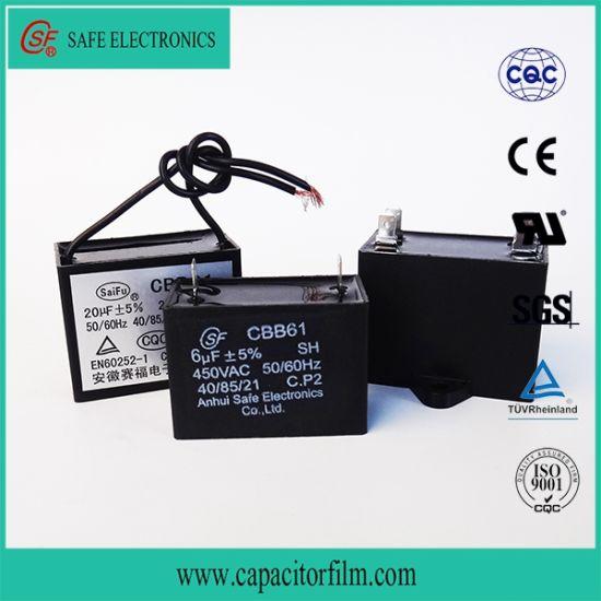 High Quality AC Motor Cbb61 Capacitor