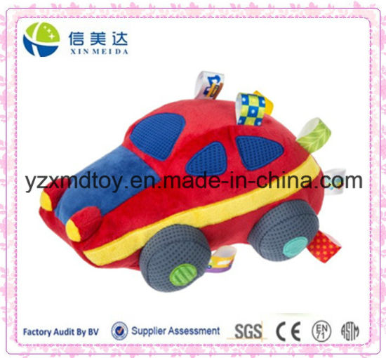 China Hot Selling Soft Red Car Plush Baby Boy Toy China Plush Car