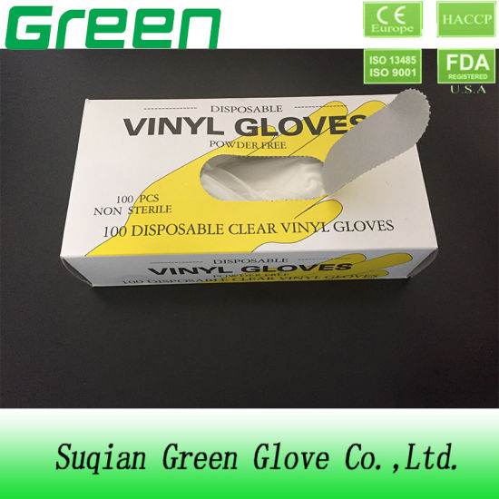 Disposable Vinyl Gloves (ISO, CE Certificated) pictures & photos