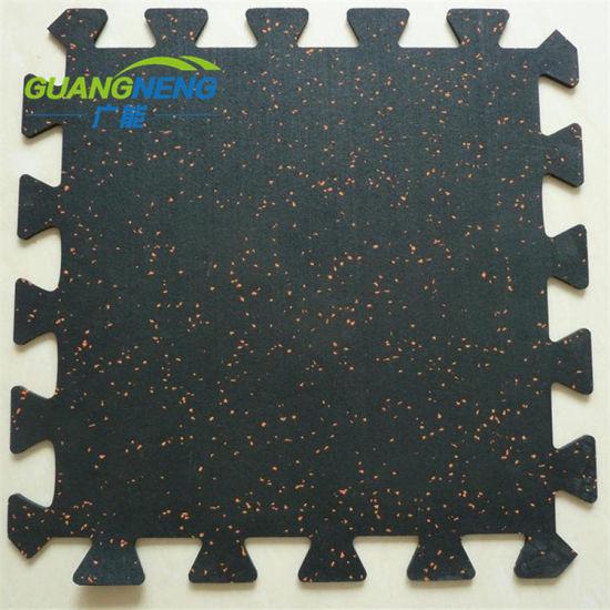 Sound Insulation Interlocking Gym Rubber Flooring Mat