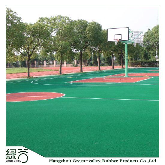 EPDM Top Rubber Mat Base Sport Court for Basketball/Tennis/Vollyball/Badminton