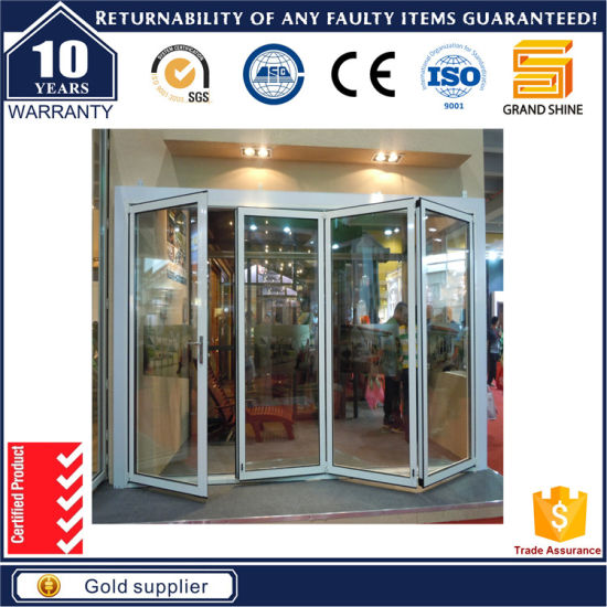 Double Glazing Exterior Interior Bi-Folding 5 Panel Sliding Door pictures & photos