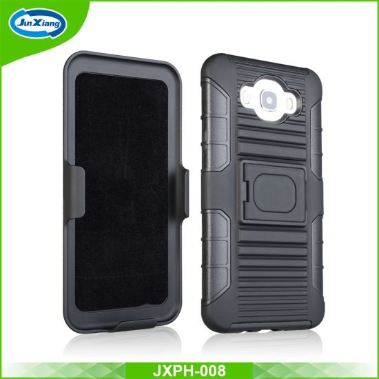 PC TPU Combo Holster Protective Mobile Phone Case for Samsung Galaxy J7 2016 J710