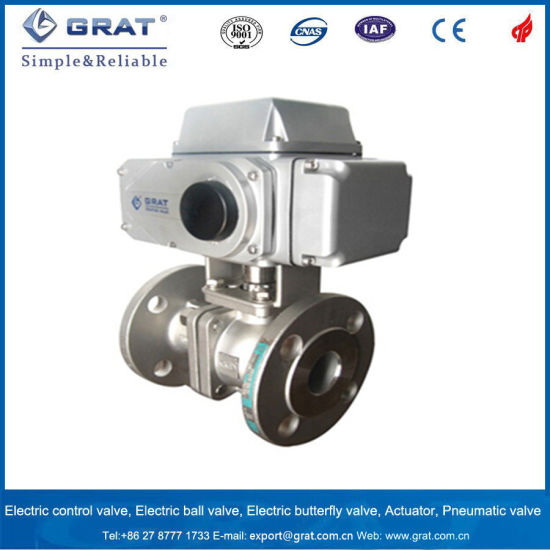 China Stainless Steel Flange Electrical Control Ball Valve