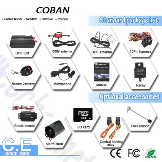 GPS Vehicle Tracking System Tk103b Vehicle Tracker GPS Suppourt Move Speed Acc, Geo-Fence, Fuel Alarm pictures & photos