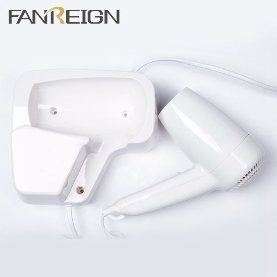 China Microswitch 1300W Hotel Wall Mount Hair Dryer