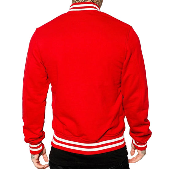 Healong China Wholesale Apparel Gear Custom Logo Men′s Baseball Jacket pictures & photos