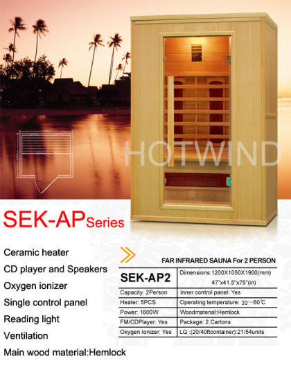 2017 Hemlock Far Infrared Sauna for 2 Person-Ap2 pictures & photos