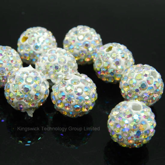 10mm 50pcs Deep Blue Clay Disco Ball Pave Crystal Shamballa Bead High Quality Crystal Loose Bead For Diy Bracelet Jewelry Making Beads