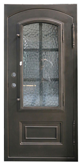 China Custom Iron Entry Doors Front Exterior With 12 Guage Steel