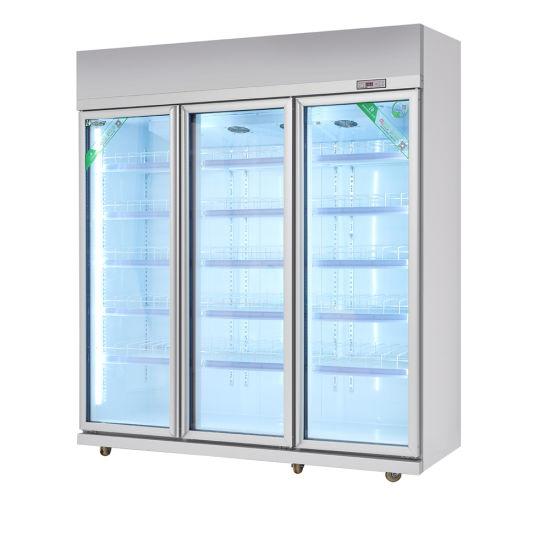 China Supermarket Glass Door Display Freezer For Beveragedrinks