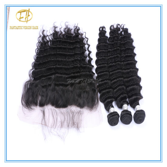 High Quality Peruvian Virgin 13*4 Lace Frontal with Pre-Pluck Hair Line and Fast Delivery Lf-007 pictures & photos
