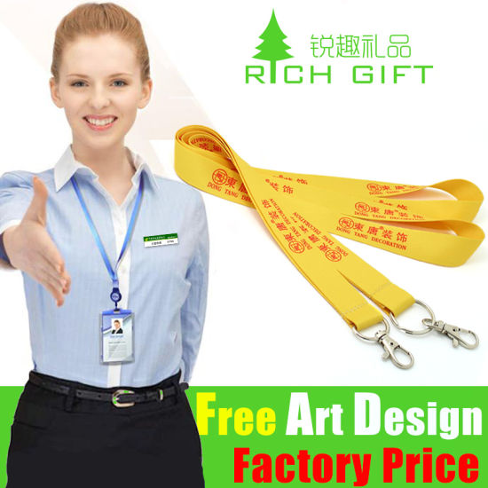 Compatitive Price Mutil-Color Custom Keychain Necklace Ribbon Strap