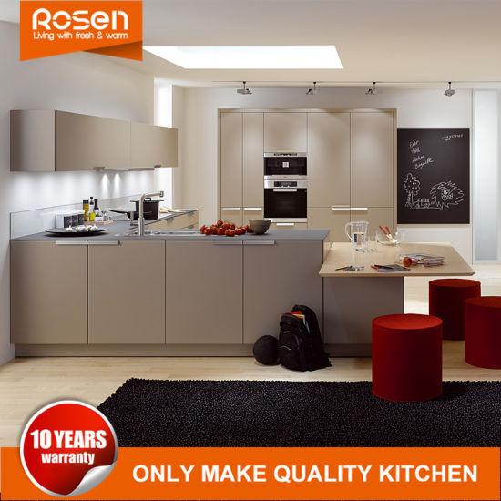 Golden Modern Style Design Laminate Kitchen Cabinets Cupboards Online