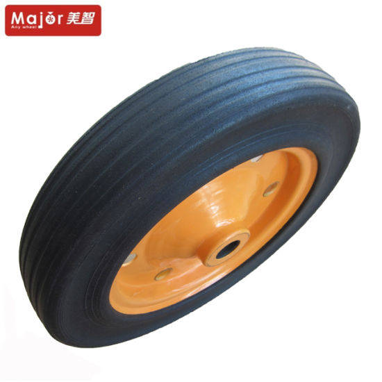 14X3 Long Hub Solid Rubber Tyre Wagon Cart Wheel pictures & photos