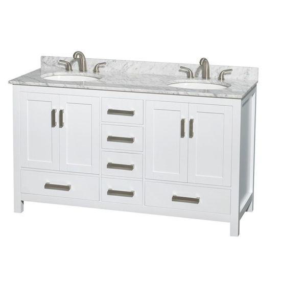 China Standing Carrara Modern Espresso Bathroom Vanity With Tower Cabinets China Marble Bathroom Vanity Bathroom Vanity Deals