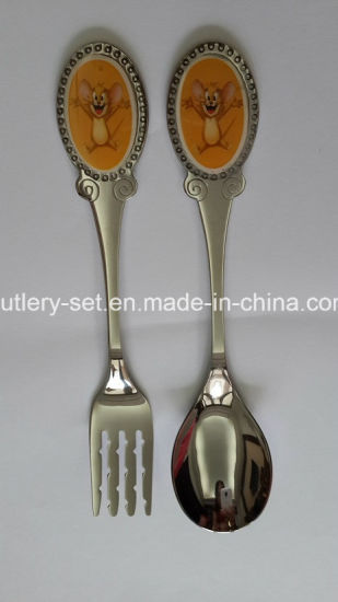 Child′s Patterned Stainless Steel Flatware pictures & photos