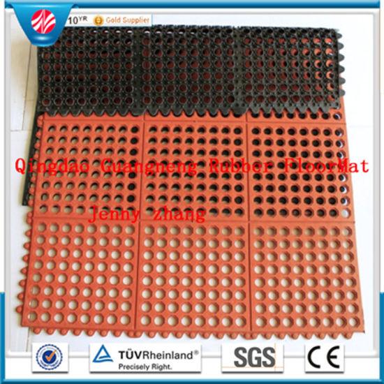 China Anti Bacteria Acid Resistant Hotel Rubber Floor Mat