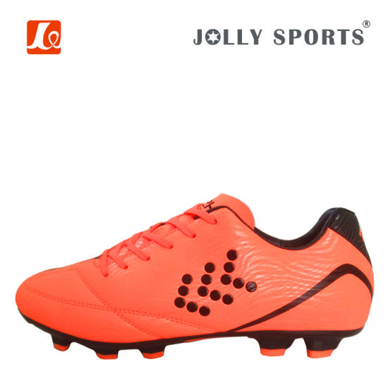 Athletic Functional Footwear Soccer Shoes with Nails for Men pictures & photos
