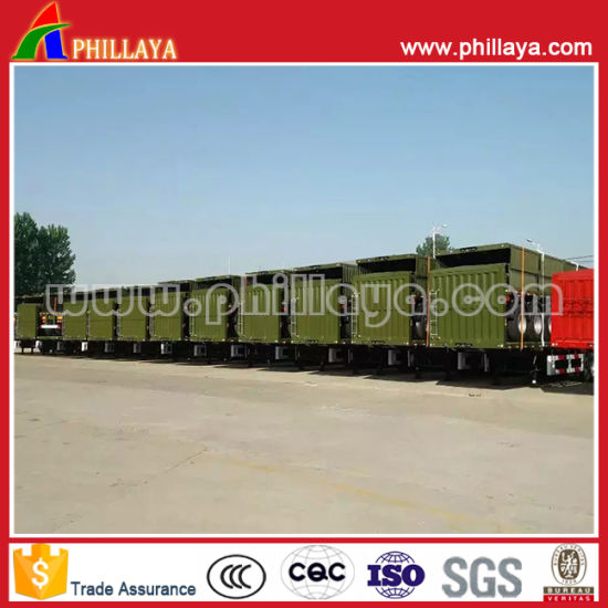 Tri-Axle Fence Sheep Cow Semi Trailers for Bulk Cargo Livestock pictures & photos