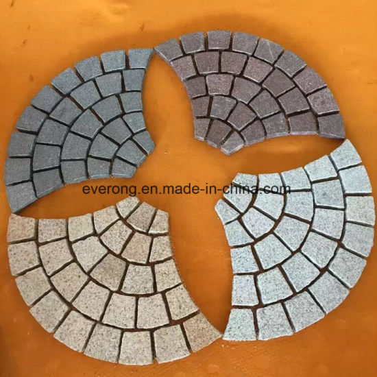 Natural Grey/Black/Red/Yellow Granite/Cobble/ Cubic/Flag/Kerb/Blind/Fan Shape/Paving Stone for Outdoor Landscaping