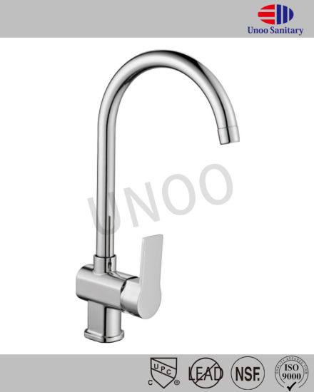 Unoo Sanitary Ware Brass and Zinc Square Bathroom Mixer (M43-3) pictures & photos