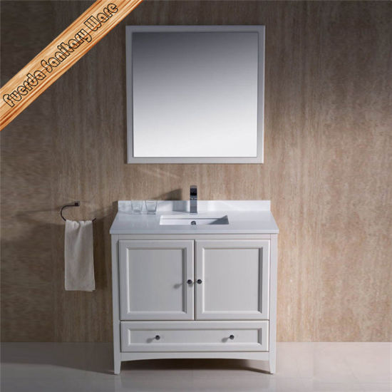Fed-1068b Light Espresso Finishing Cupc Ceramic Sink Solid Wood Bathroom Cabinets pictures & photos