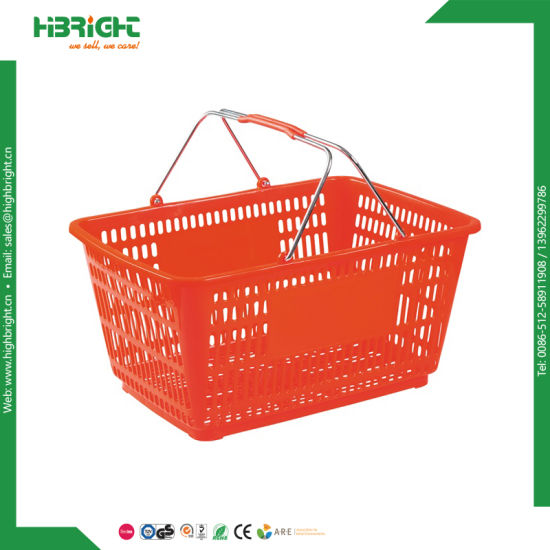Supermarket Equipment Grocery Store Plastic Shopping Basket pictures & photos