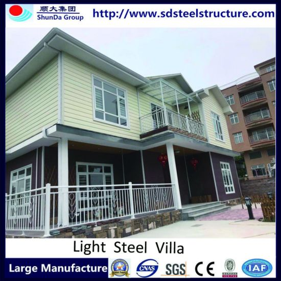 Ce and ISO Prefabricated House with Steel Foundation pictures & photos