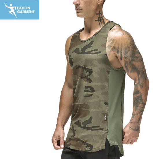 Performance Camouflage Mesh Running Fitness Tank Top Men