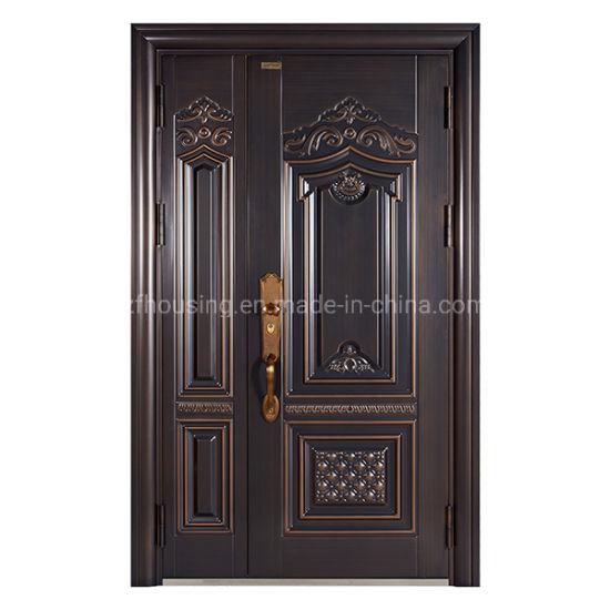 New Design Entrance Steel Security Door for Villa Zf-Ds-002