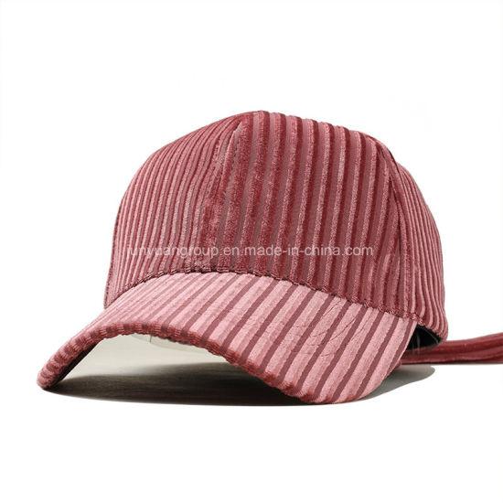 b9438fa88c9baa Women′s Design Winter Corduroy Fleece Blank Custom Cotton Baseball Cap