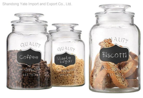 China High Quality Transparent Glass Jars With Sealed Lid China