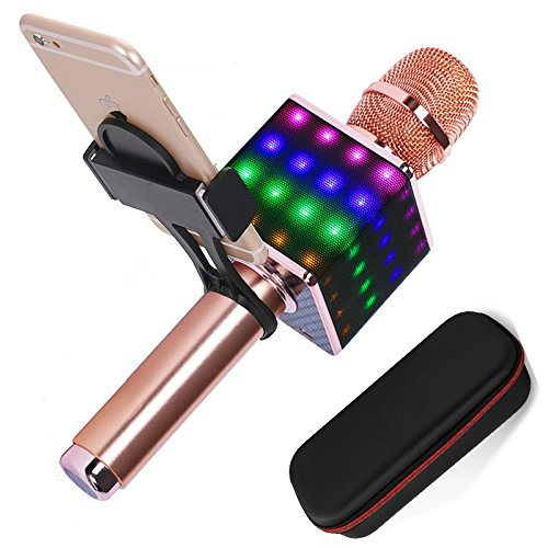 Best H8 Wireless Karaoke Microphone with Phone Holder