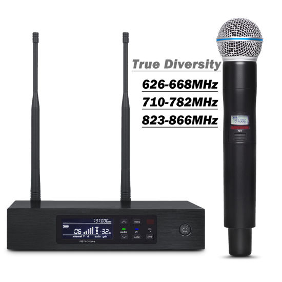 Qlxd4 Professional UHF Digital Wireless Mic System Single Handheld Microphone for Shure pictures & photos