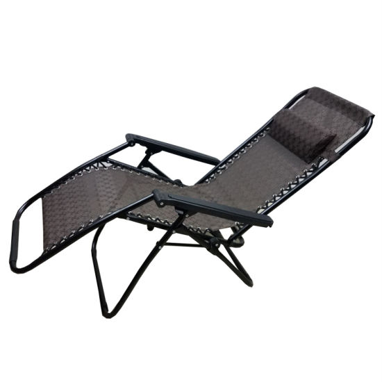 Super China Zero Gravity Patio Folding Sun Lounger Adjustable Caraccident5 Cool Chair Designs And Ideas Caraccident5Info