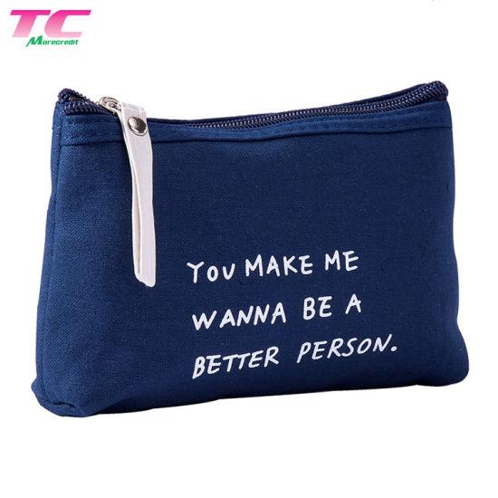 Portable Nylon Custom Print Travel Toiletry Bag with Zipper