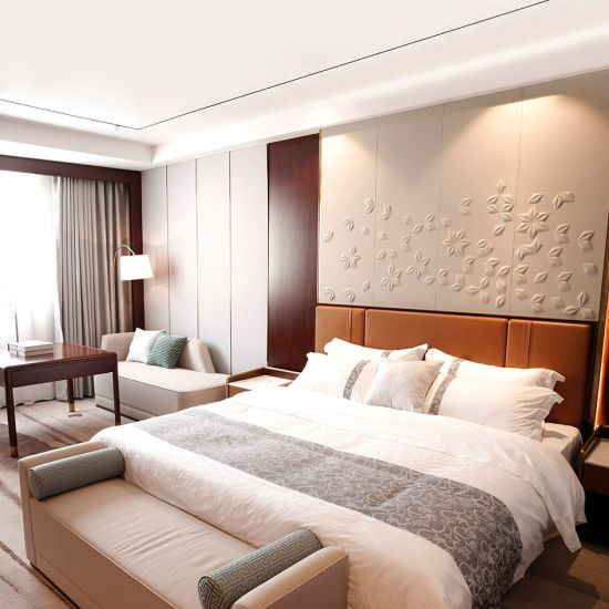 Hotel Solid Wood Double Bed Used Bedroom Furniture for Sale