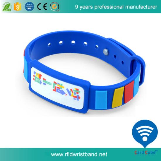 Waterproof Ntag213 RFID Custom PVC Wristband