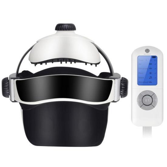 Automatic Air Pressure Head Massage Helmet Dual Vibrating Electric Head Massager