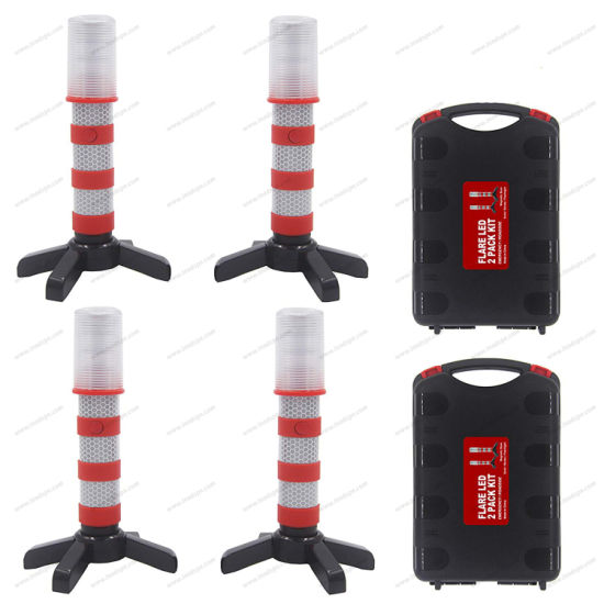 LED Safety Flare Kit with Carry-Case