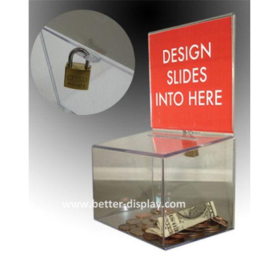 Cuatom Acrylic Money Box Photo Frame